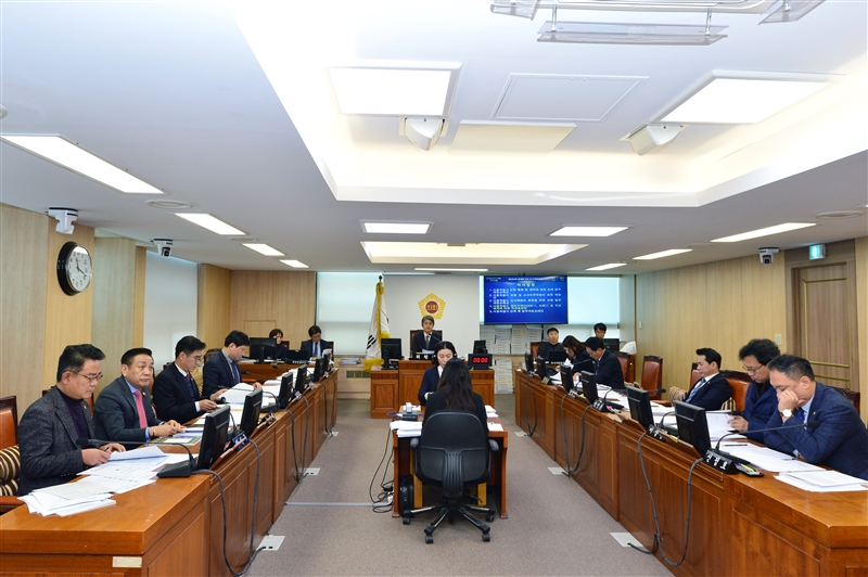 제284회 정례회 도시계획관리위원회 회의 이미지