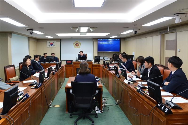 제290회 정례회 청년정책특별위원회 회의 이미지