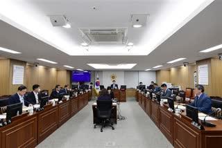 296회 임시회 폐회중 도시안전건설위원회 상임위원회